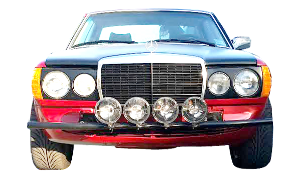 W123 MERCEDES-BENZ RALLY MODEL ACROPOLIS 1980 PARIS-DAKAR 1981